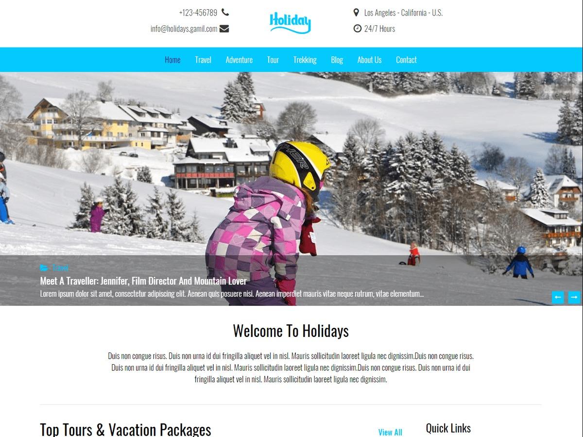 Best WordPress theme Holidays