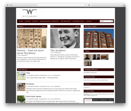 Best WordPress theme Reporter - wychbury.com.au