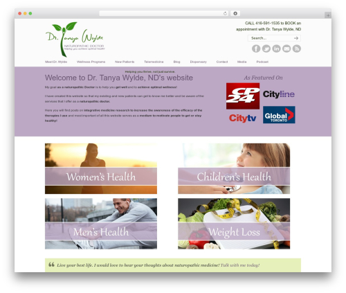 Best WordPress theme U-Design - wyldenaturalhealthteam.com