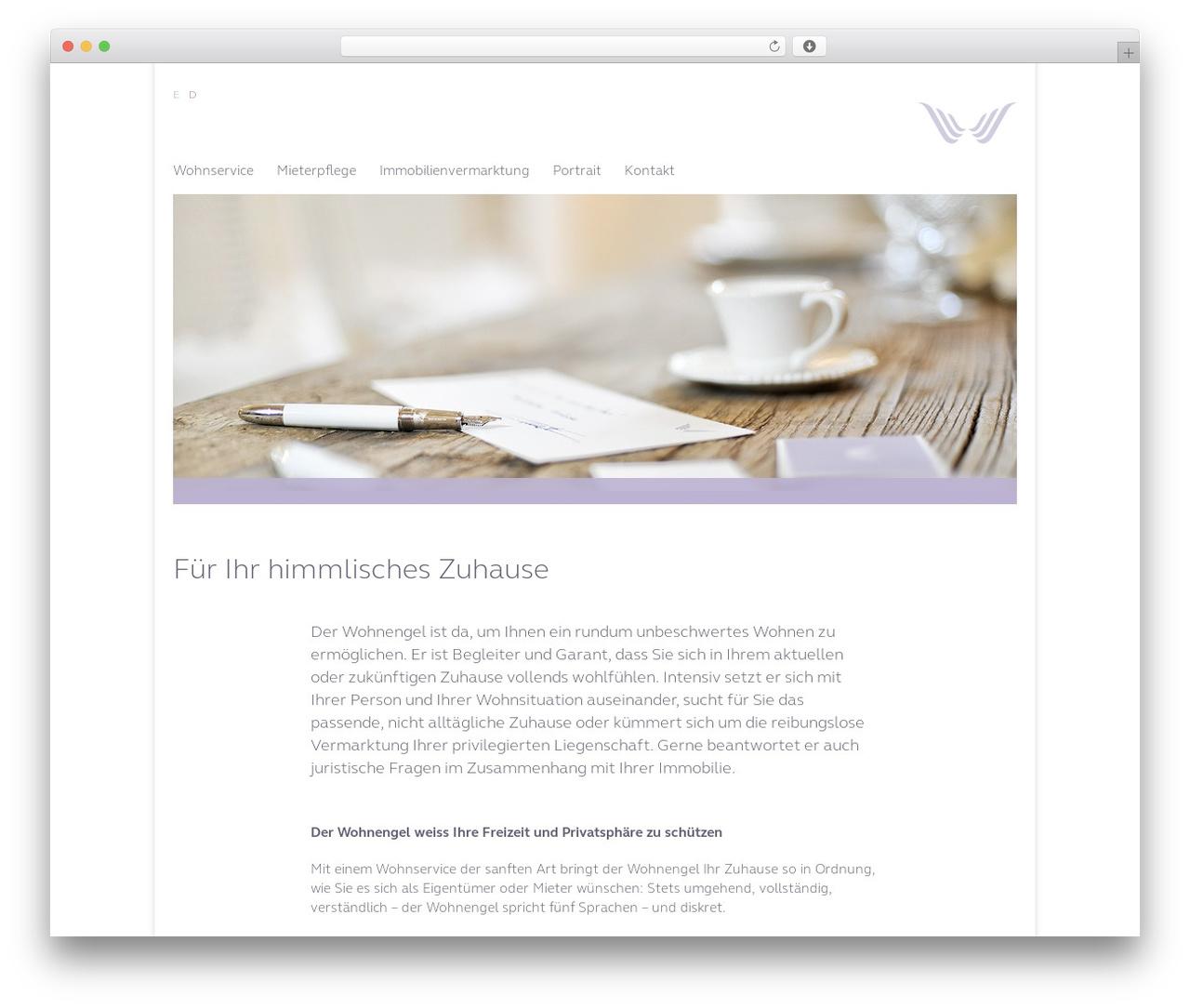 Best WordPress theme Wohnengel - wohnengel.ch