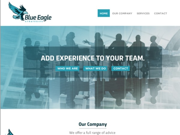 Blue Eagle WordPress theme