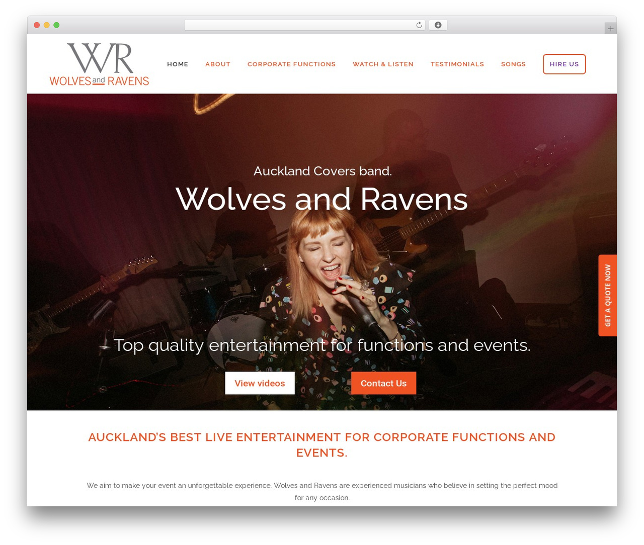 Bridge WordPress wedding theme - wolvesandravens.co.nz