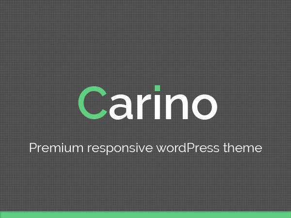 Carino WordPress blog theme