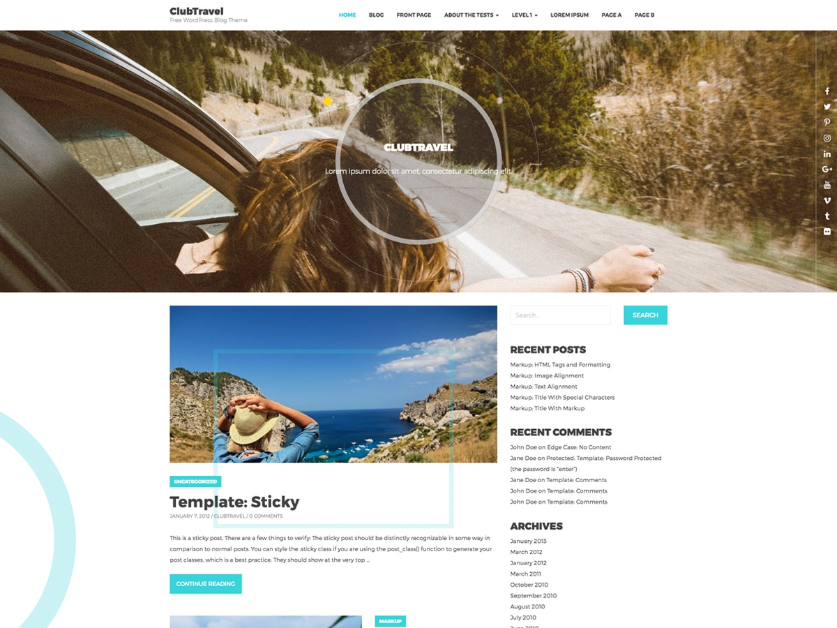 ClubTravel WordPress gallery theme