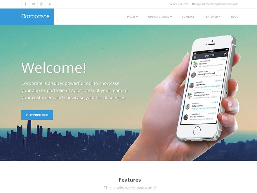 Corporate by MyThemeShop WordPress store theme