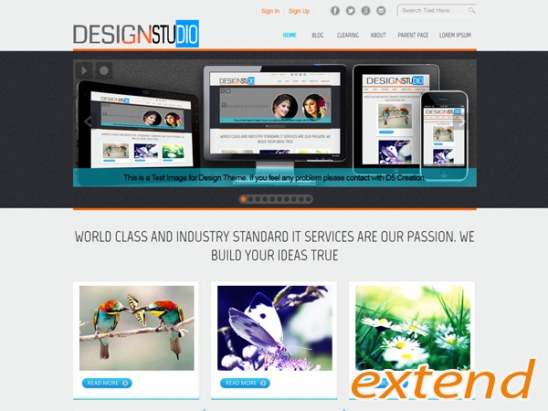 D5 Design Extend business WordPress theme