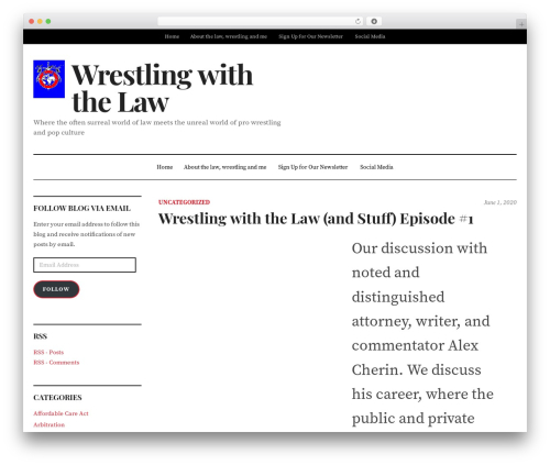 DailyMag premium WordPress theme - wrestlingwiththelaw.com