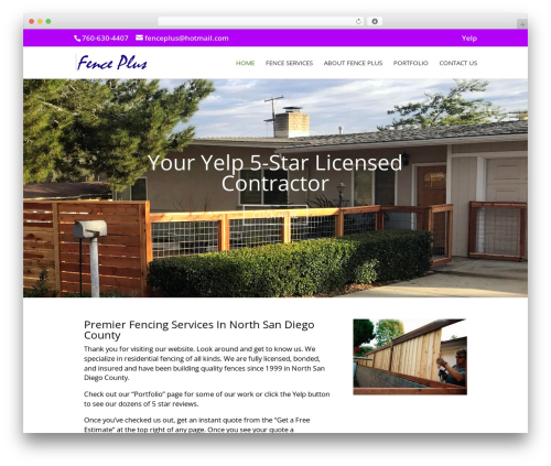Divi company WordPress theme - fenceplusgates.com