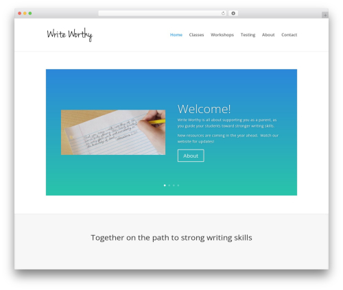 Divi WordPress theme - writeworthy.com