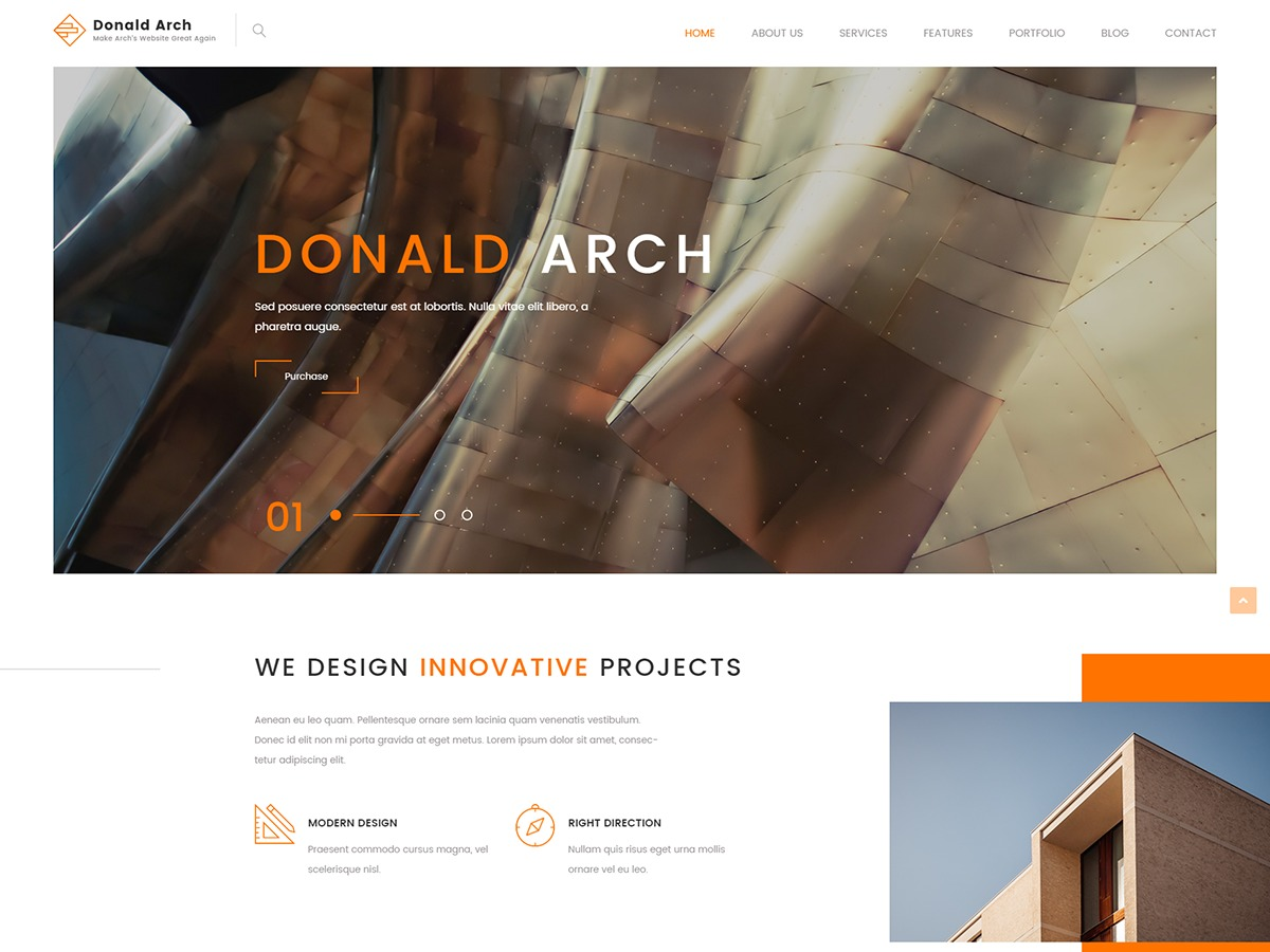 Donald WordPress blog template