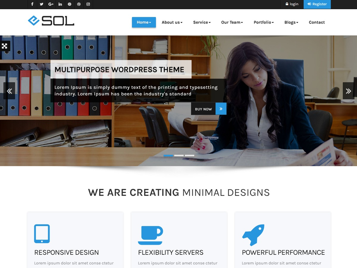 Esol WordPress portfolio theme