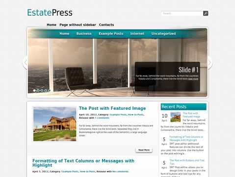 EstatePress template WordPress