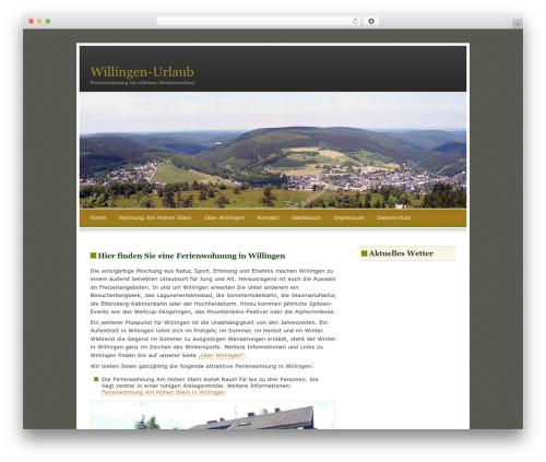 FallSeason theme WordPress - willingen-urlaub.de