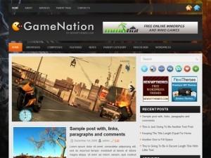 GameNation WordPress gaming theme