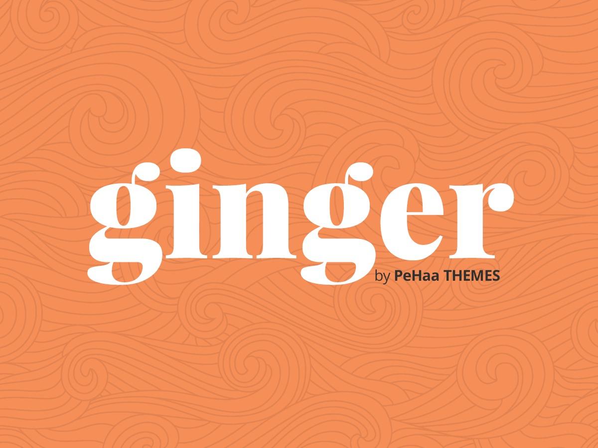 Ginger WordPress theme