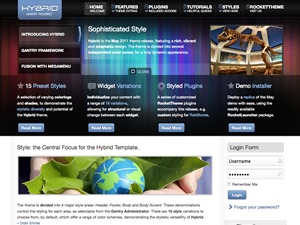 Hybrid WordPress website template