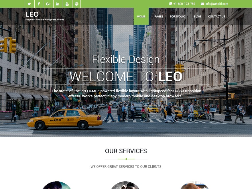 Leo template WordPress free