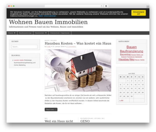 Magazine Basic best free WordPress theme - wohnen-bauen-immobilien.de