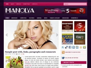 Manolya best WordPress template