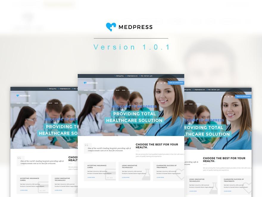 MedPress medical WordPress theme