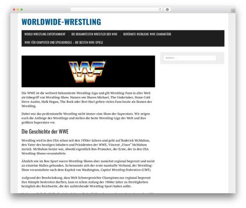 MH Newsdesk lite WP theme - worldwide-wrestling.de