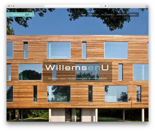 Mies WordPress page template - willemsenu.nl