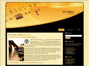 Music Words theme WordPress