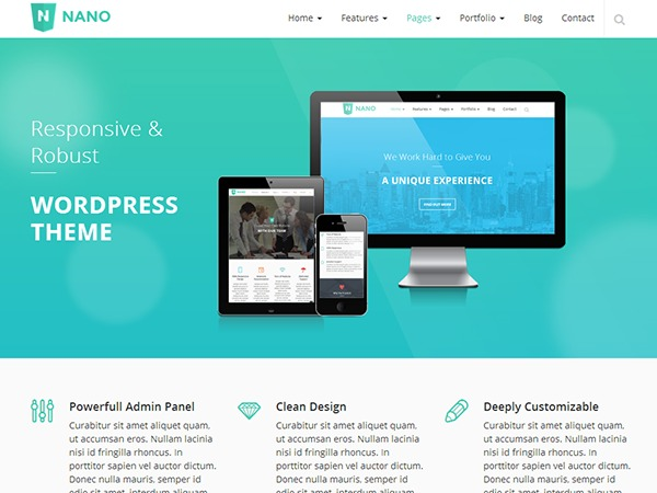 Nano theme WordPress