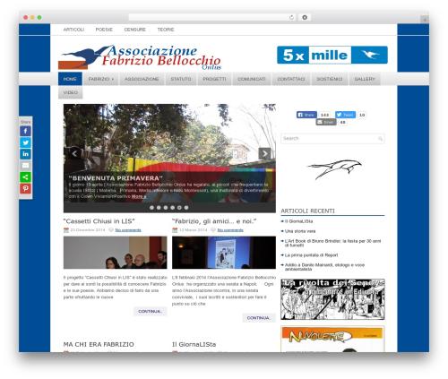 NewsZone newspaper WordPress theme - fabriziobellocchioonlus.com