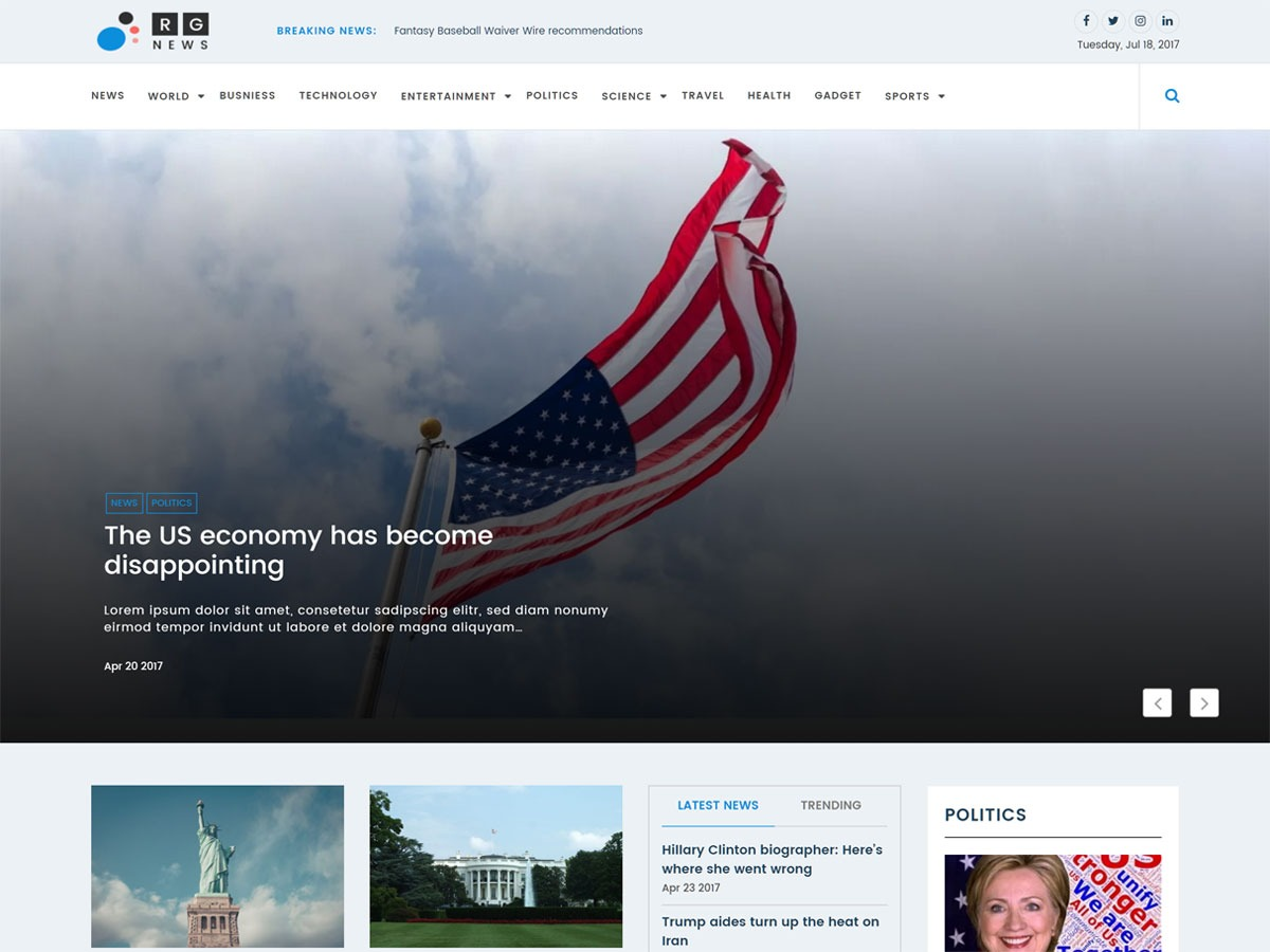 Online News free WordPress theme
