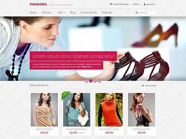 Pandora for Woocommerce - Premium Wordpress Theme WordPress shopping theme