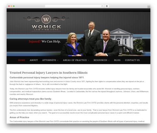 Paradigm medical WordPress theme - womicklawfirm.com