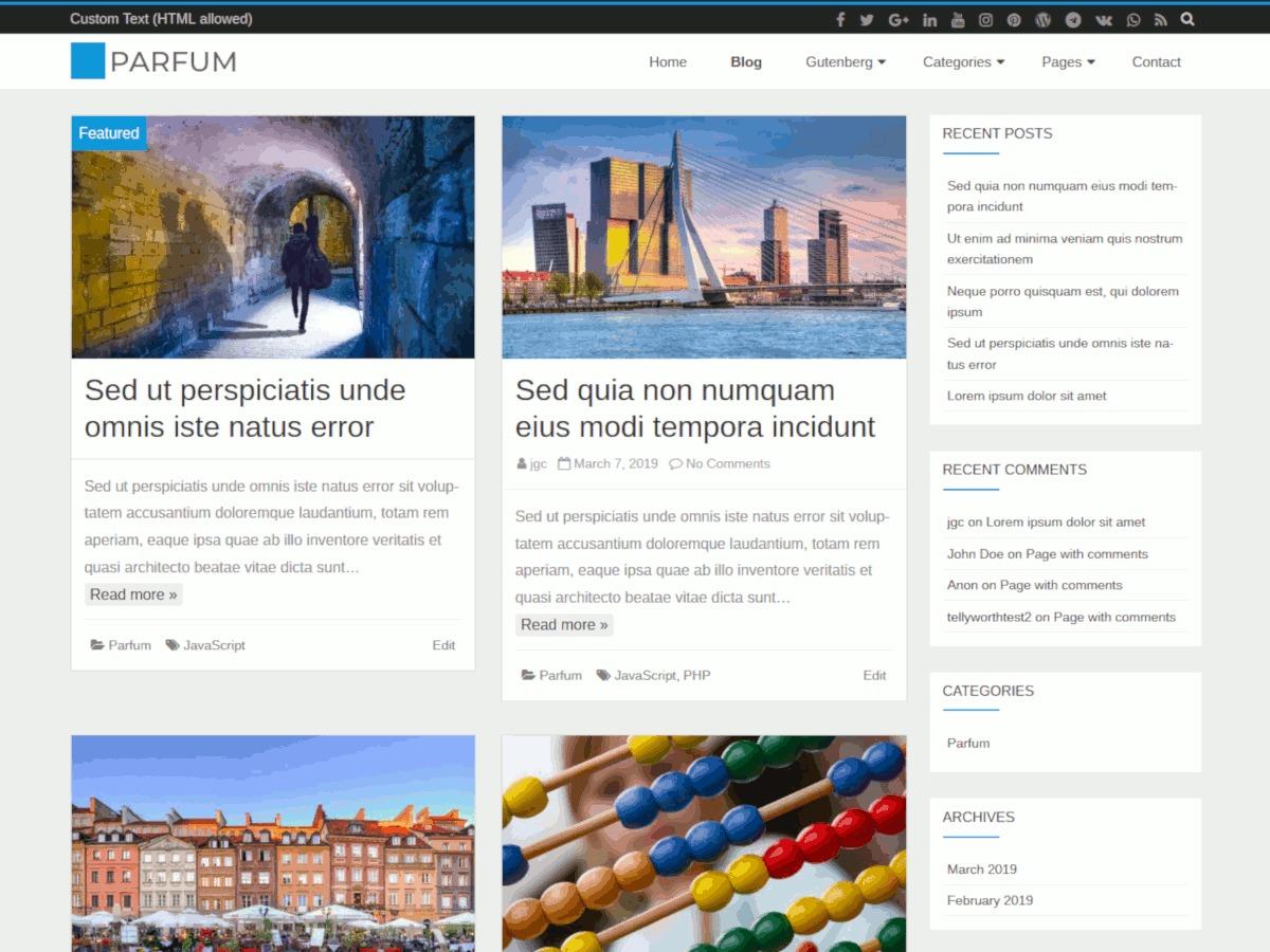 Parfüm theme WordPress