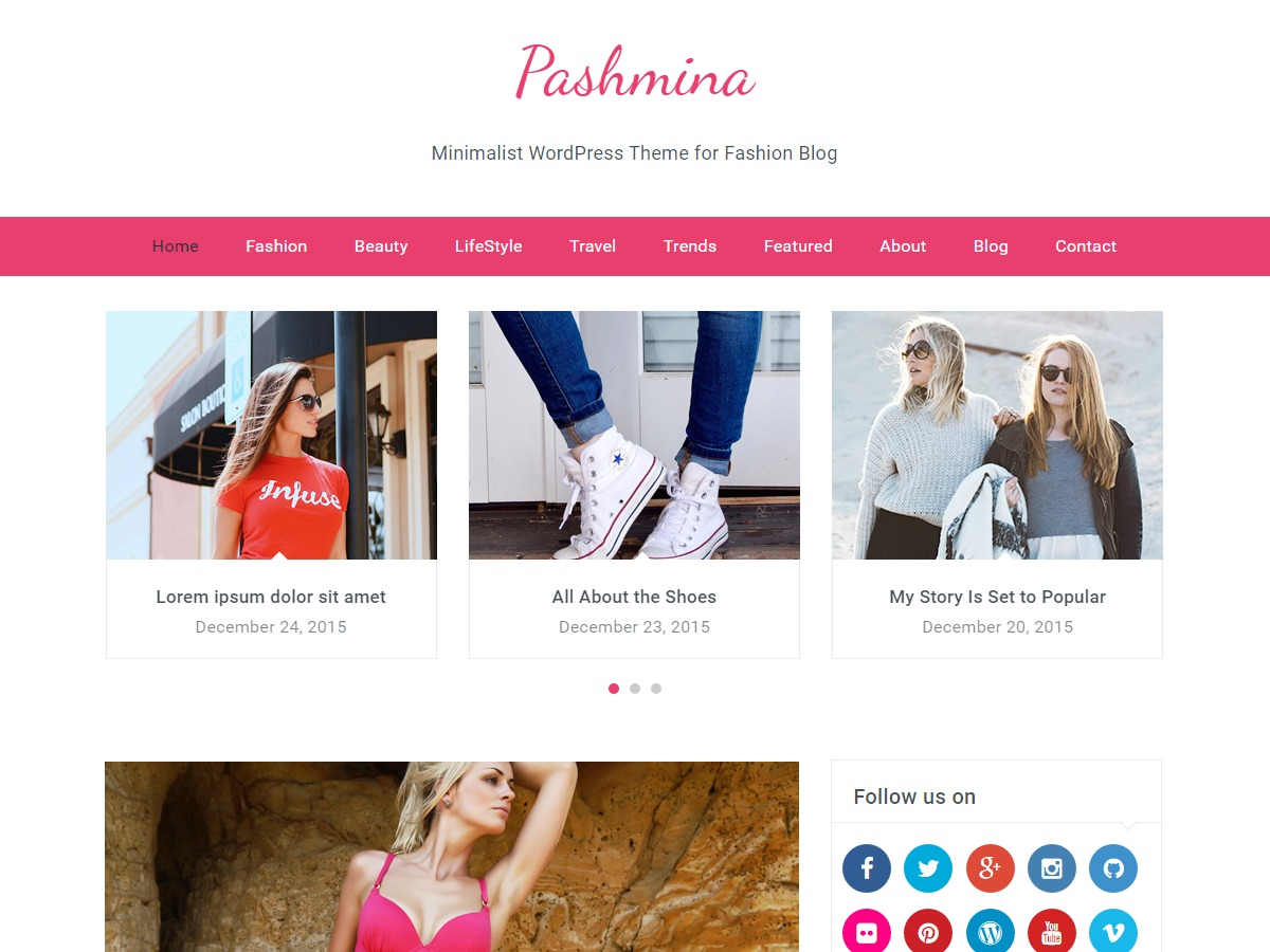 Pashmina food WordPress theme