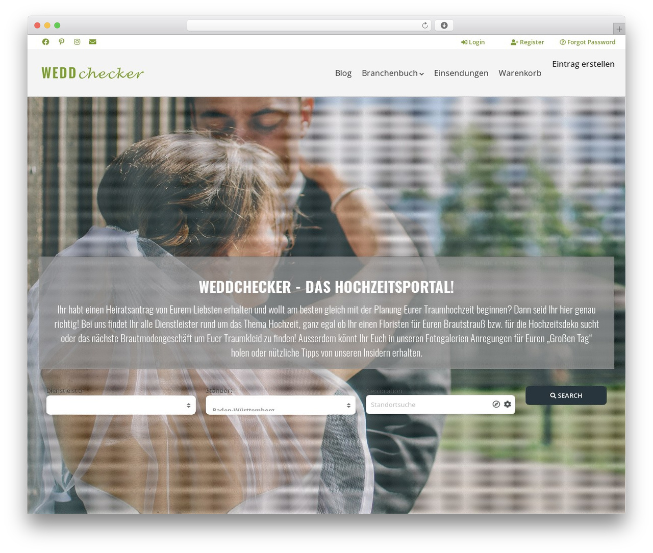 Pointfinder WordPress theme - weddchecker.de