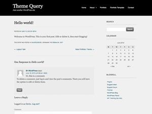 Portfolio Theme theme WordPress portfolio