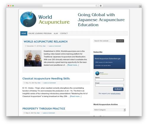 Prose theme WordPress - worldacupunctureblog.com