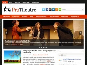 ProTheatre WordPress blog template