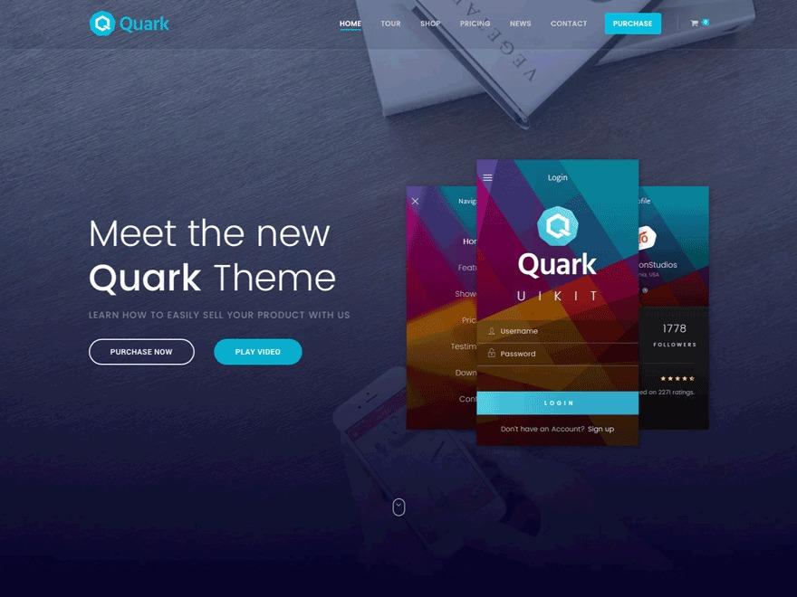 Quark Progression WordPress theme design