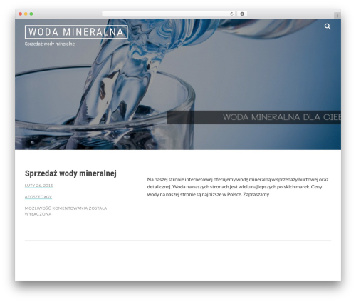 Radium top WordPress theme - wodamineralna.com