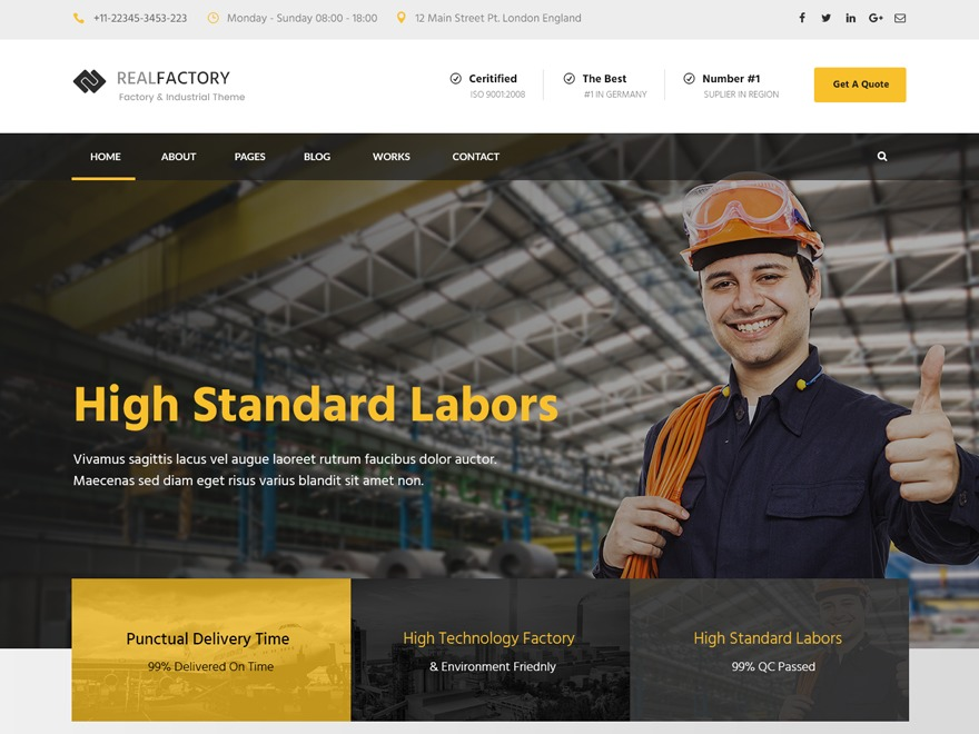 Real Factory Child WordPress theme