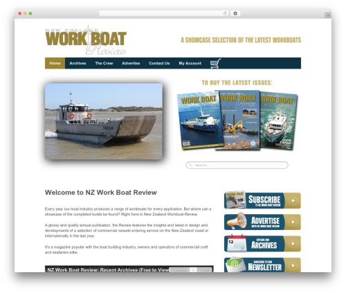Responsive WordPress theme - workboats.co.nz
