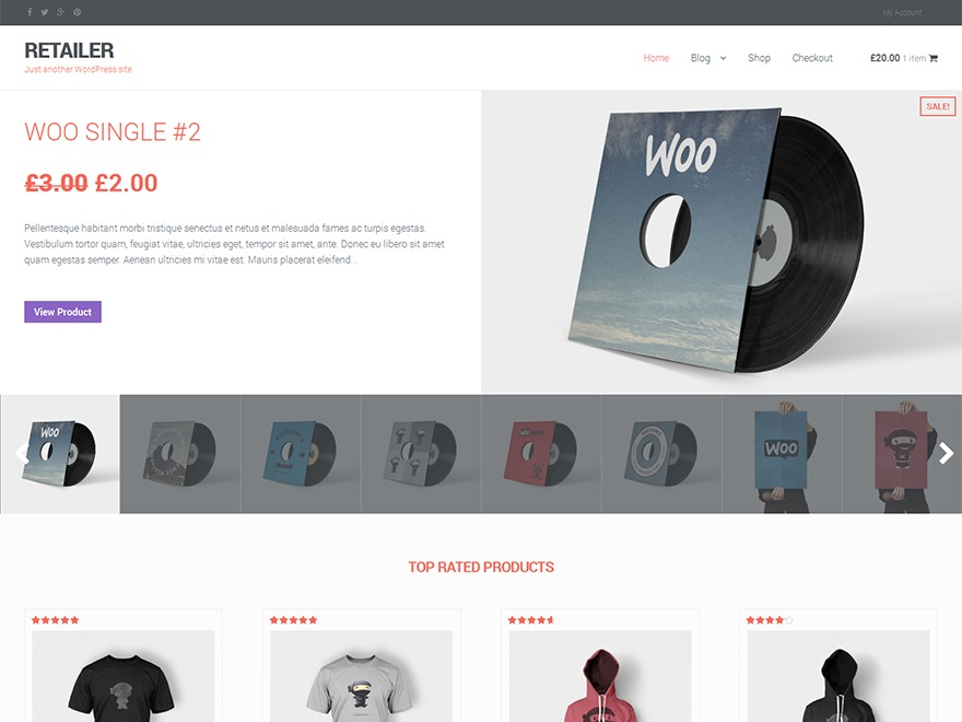 RETAILER WordPress store theme