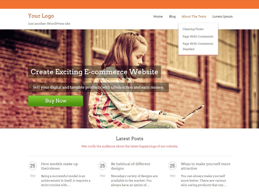SaleJunction free WordPress theme