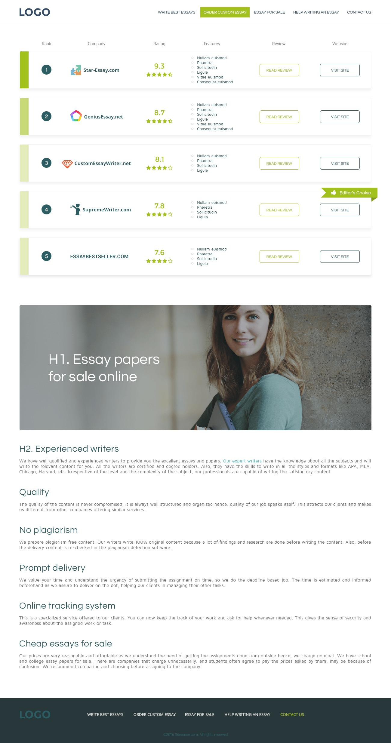 seo-review-2 WordPress page template