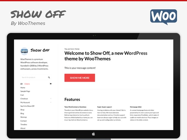 Show Off WordPress website template