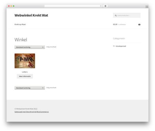 Storefront best WordPress theme - webwinkel.krektopmaat.nl