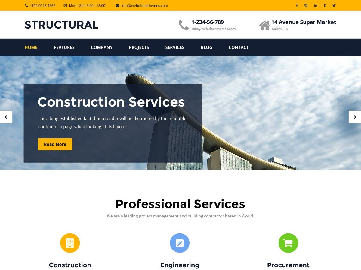 Structural WordPress template free download