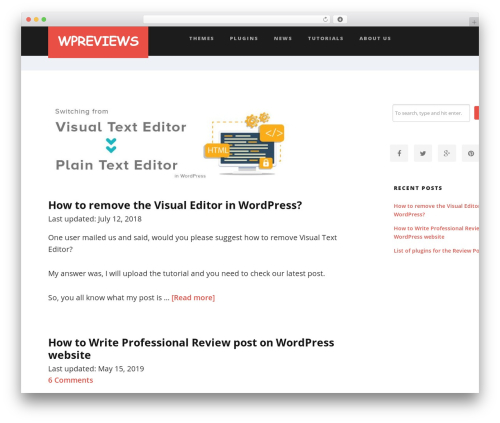 Suite top WordPress theme - wpreviews.org