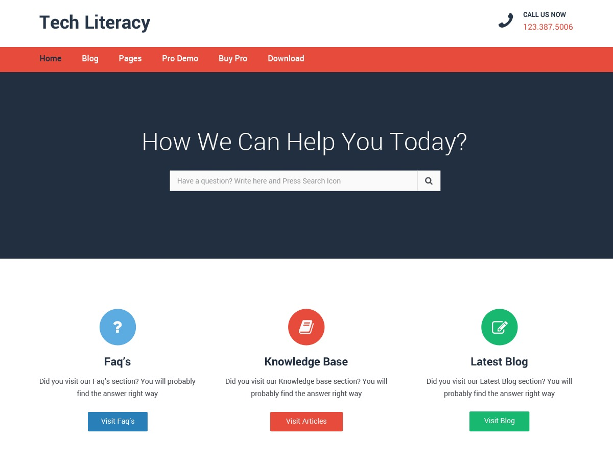 Tech Literacy best WooCommerce theme